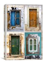 Doors and Windows, Canvas Print