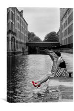 Girl with the Red Shoes, Canvas Print