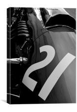 Vintage racer, Canvas Print