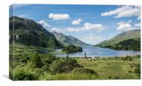 Loch Shiel, and Glenfinnan Memorial, Canvas Print