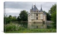 Azay le Rideau Castle in France , Canvas Print