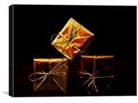 Golden Presents, Canvas Print