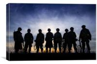Easy Company, Canvas Print