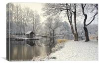 Winter silence, Canvas Print
