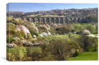 Dee Viaduct, Llangollen valley, Canvas Print