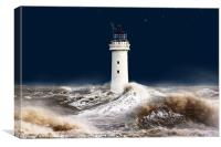 T`was on a night like this. (stormy sea), Canvas Print