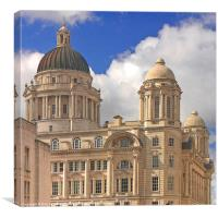 Port of Liverpool Building, Canvas Print