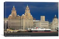 The liver  building, Liverpool, Canvas Print