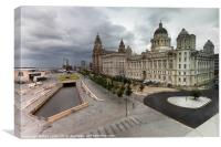 Liverpool Pier Head, HDR, Canvas Print