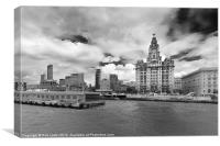 The Royal Liver Building,Liverpool, Canvas Print
