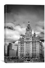 Liverpool`s Liver Building, Canvas Print