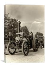 "Traction Engine "" A golden Age"", Canvas Print"