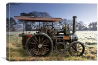 "Traction Engine "" Olden Days"", Canvas Print"
