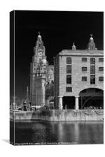 Albert dock and Liver building, Canvas Print