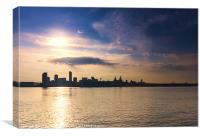 Liverpool Waterfront Dawn, Canvas Print