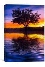 """Le """"sunset"""" part deux, Canvas Print"""