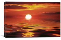 """""""At the going down of the sun"""", Canvas Print"""