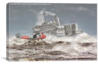 Sea King and Fort Austin, Canvas Print