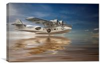 PBY Catalina, Low pass, Canvas Print