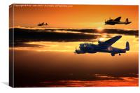 Lancaster PA474  and Mosquito RR299. , Canvas Print