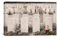 Christmas truce remembered, Canvas Print