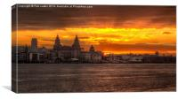 Liverpool sunrise, Canvas Print