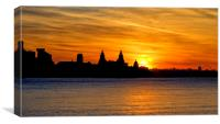 Liverpool glows in the morning, Canvas Print