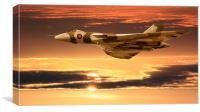 Vulcan Sunrise, XH558 , Canvas Print