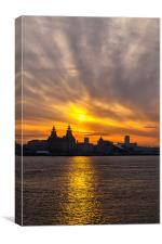 Liverpool welcomes the Morning, Canvas Print