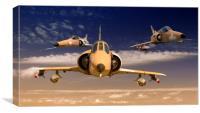 KFIR C-2 fighters  , Canvas Print