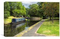 Llangollen canal at Trevor, Canvas Print
