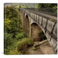 Pontcysyllte aquaduct Llangollen, Canvas Print