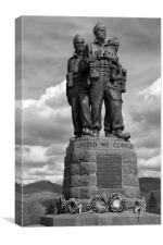 Commando Memorial, Spean Bridge>mono, Canvas Print