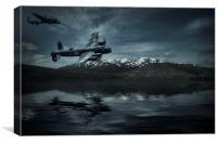 Lancasters, Hunt the Tirpitz, Canvas Print