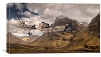 Chinooks mountain sortie , Canvas Print