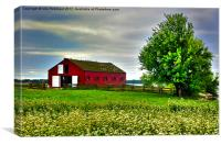 The Red Barn, Canvas Print