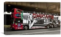 NYC tourist Bus, Canvas Print