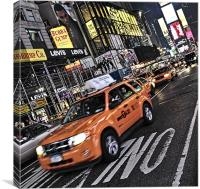 Big yellow Taxi, Canvas Print