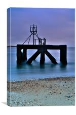 Sea Ruins at Eastney, Canvas Print