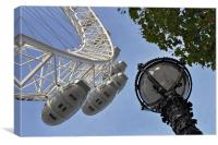 London Eye and Lamp, Canvas Print