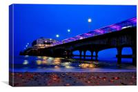 Bournemouth Pier at Night Time, Dorset., Canvas Print
