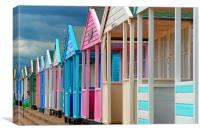 Beach Huts in Southwold, Suffolk, England, United Kingdom, Canvas Print