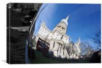 St Pauls Cathedral, City of London, England, United Kingdom, Canvas Print