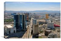 Las Vegas Skyline from the Stratosphere Tower, Nev, Canvas Print