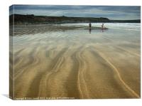Striped Sands at Whitesands, Canvas Print