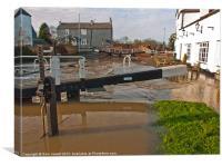 Canal Flooding, Canvas Print