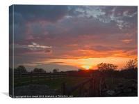 Spring Sunset, Canvas Print