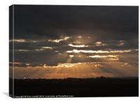 Crepuscular Rays, Canvas Print