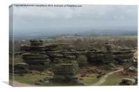 Rocks at Brimham Rocks, Canvas Print