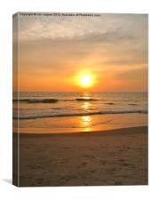 Goan Sunset, Canvas Print
